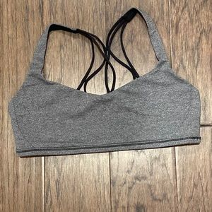 Size 10 Lululemon Dark Gray Free To Be Zen Bra